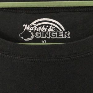 Wasabi & Ginger Tops - Wasabi & Ginger B/W FBI:MOST WANTED Graphic Tee XL